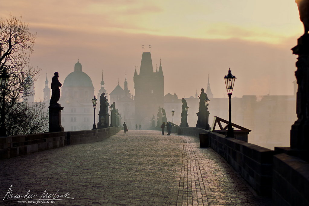 Charles Bridge early morning